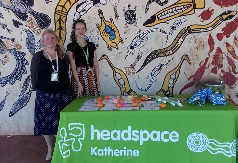headspace Katherine staff visit Wugularr
