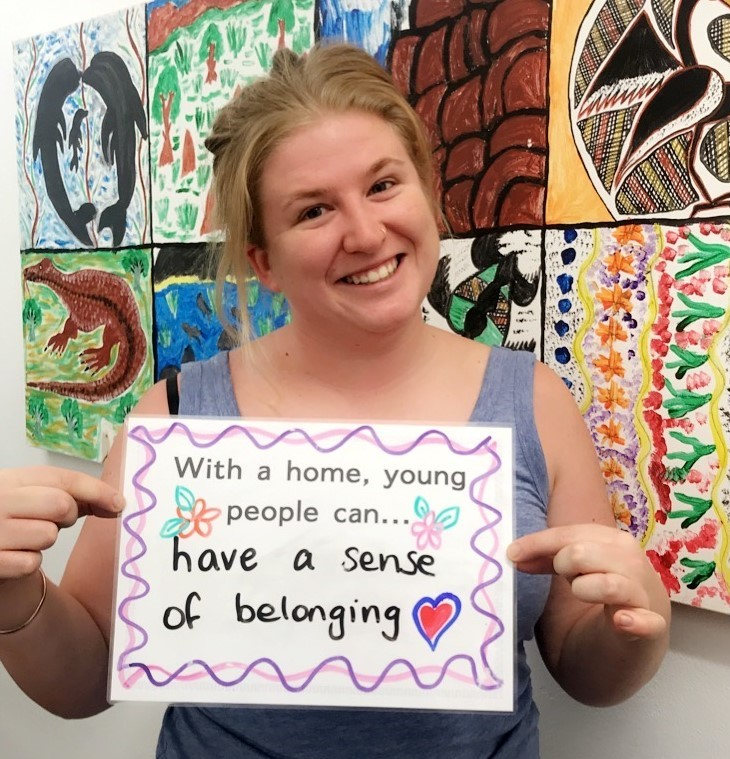 With a home young people can have a sense of belonging