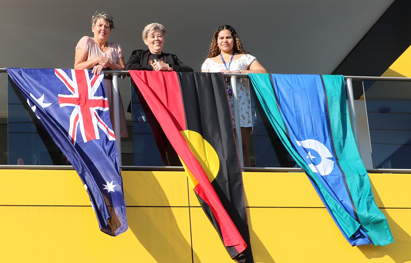 Janet, Leonie and Lucille commemorate Reconciliation Week.
