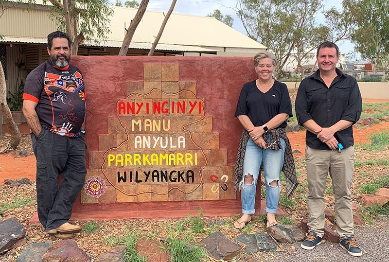 David Curtis, JCAC Executive Manager; Leonie Patterson, Anglicare NT Senior Aboriginal Advisor; and Sam Ashton, JCAC CEO