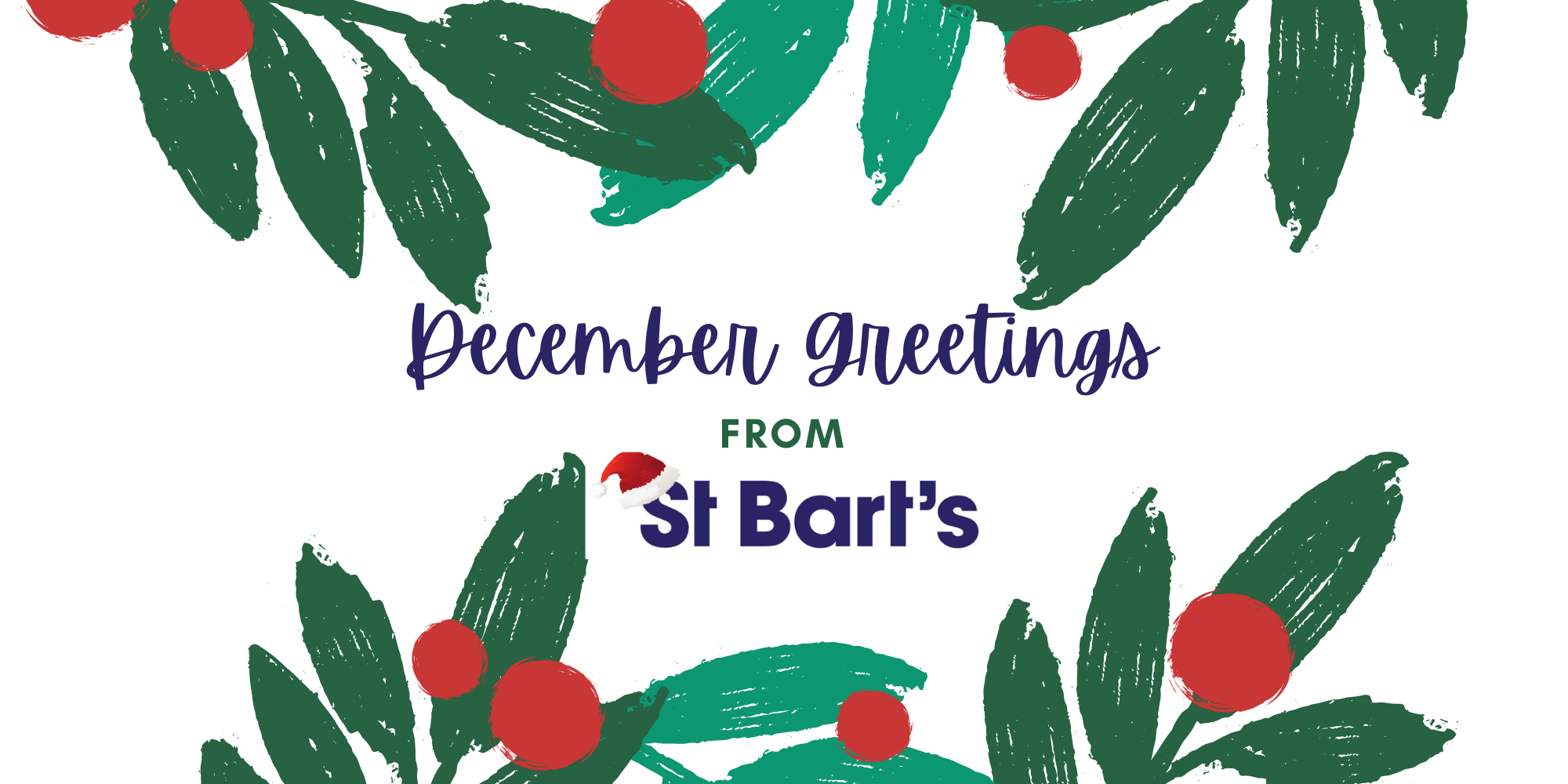 December Greetings from St Bart's